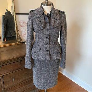 Burberry prorsum tweed jersey suit size 42